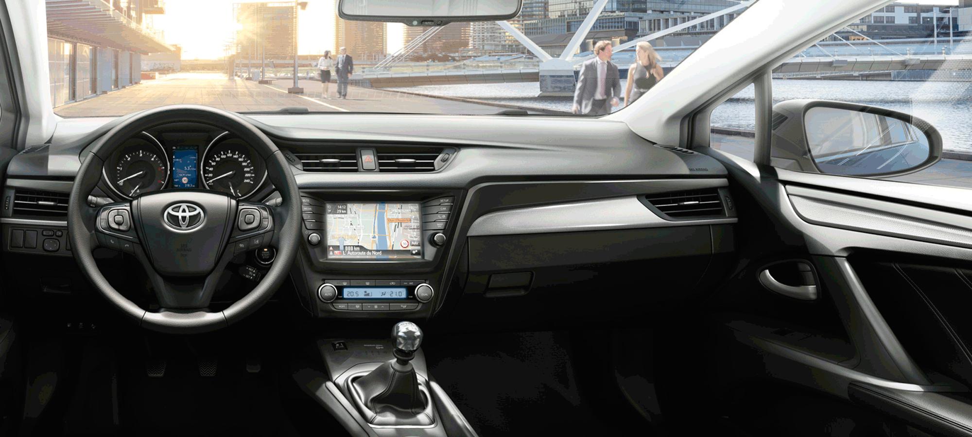 Innsiden av bil