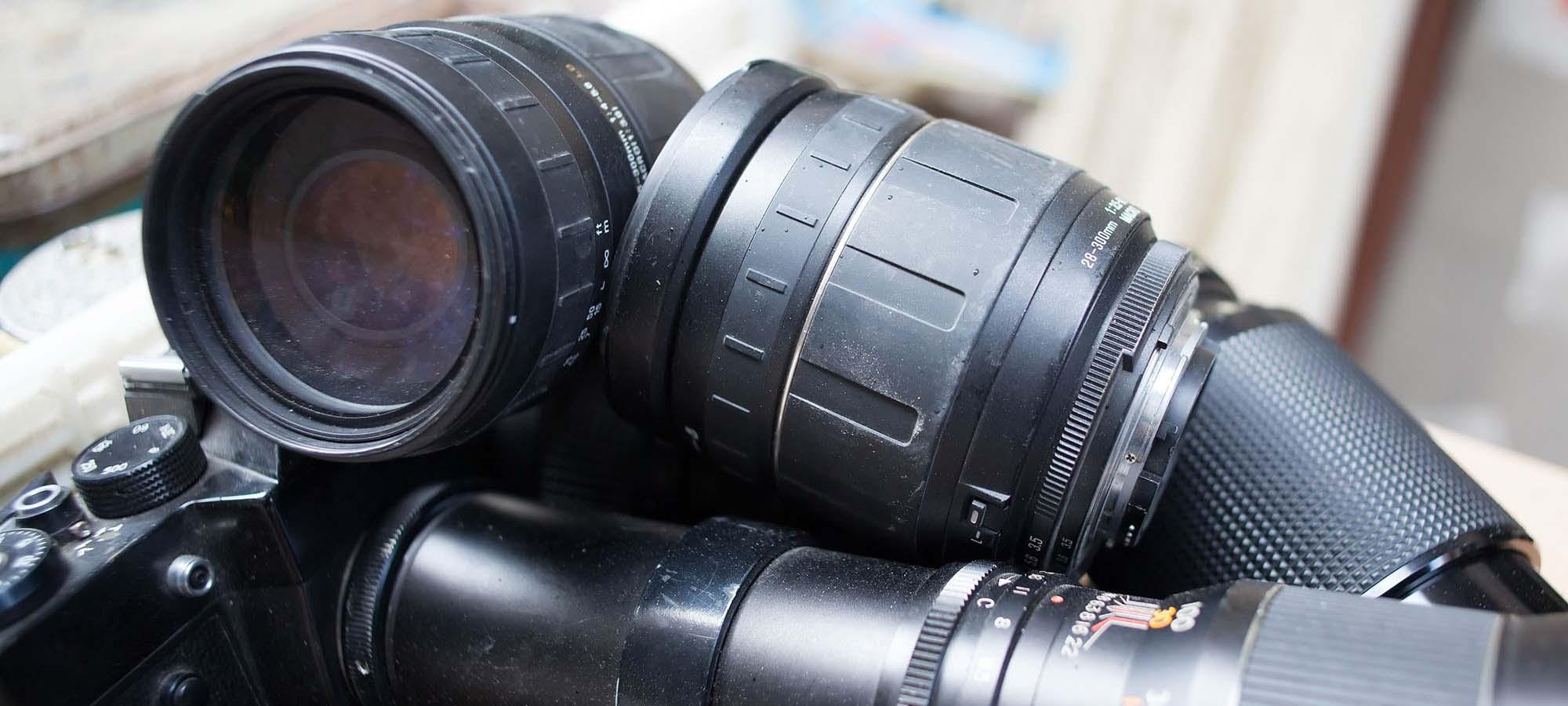 Brukte fotolinser