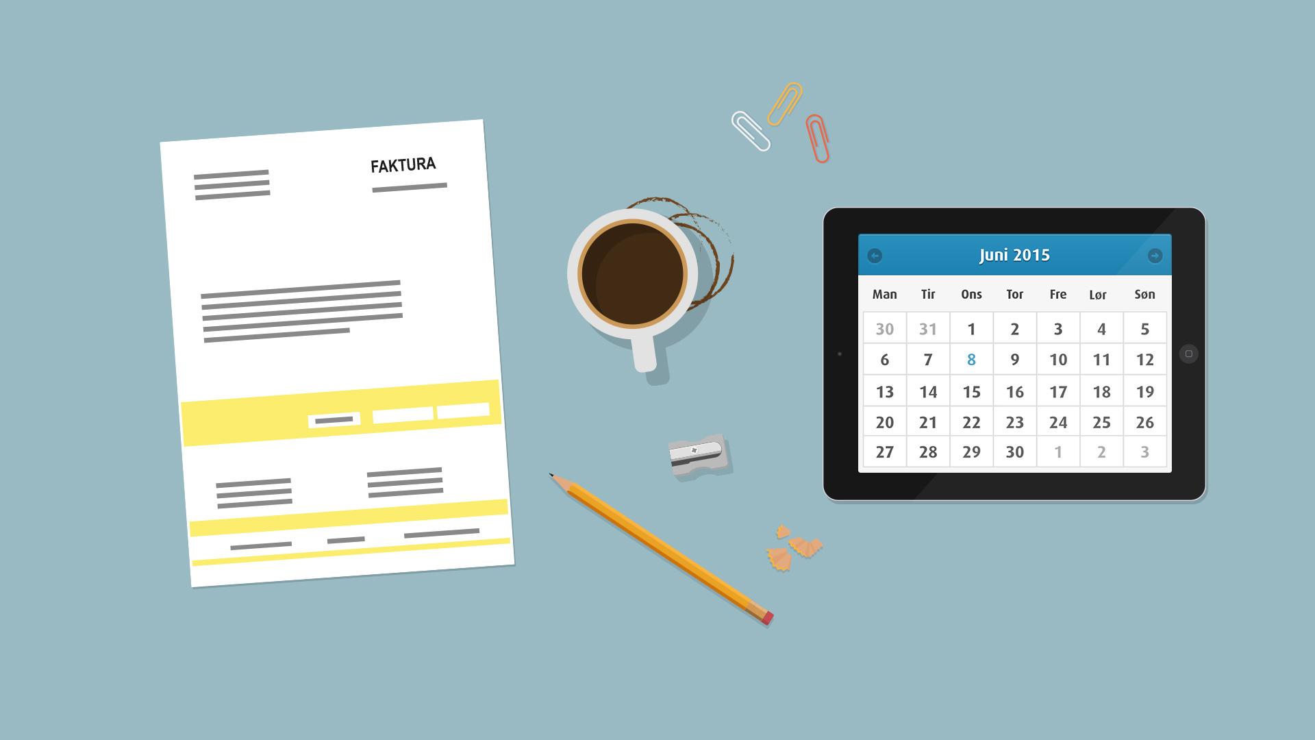 Kalender og laptop